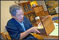 Beating set of gold foils by machine, Kanazawa, Japan