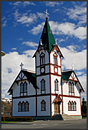 Wooden church of Husavik, Iceland