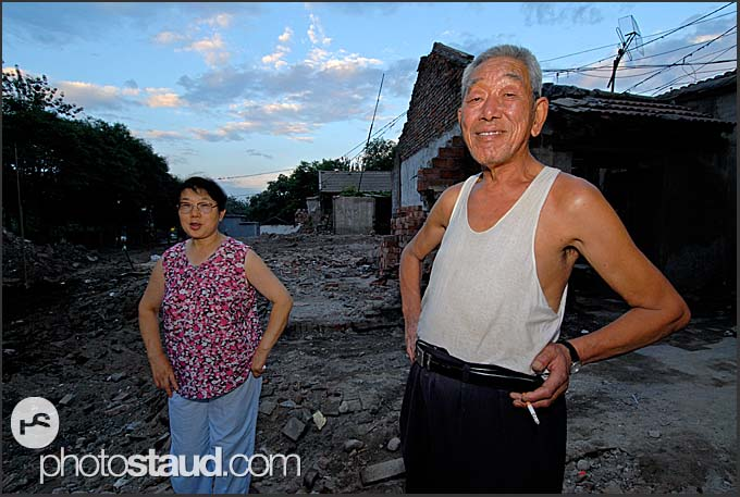 Shaken but not broken, Chinese people living on the ruins, reluctant to leave their homes in Beijing Hutong, China