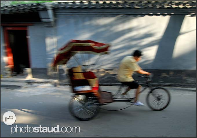 Rickshaw riding in Beijing Hutong, China