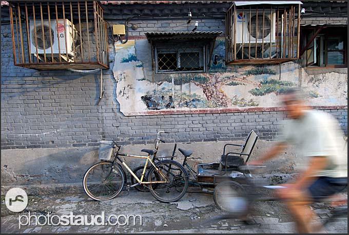 Street scene in Hutong, Beijing, China