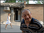 Street life in Hutong – the poor quarters of Beijing, China