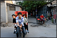 Street life in Hutong, Beijing, China