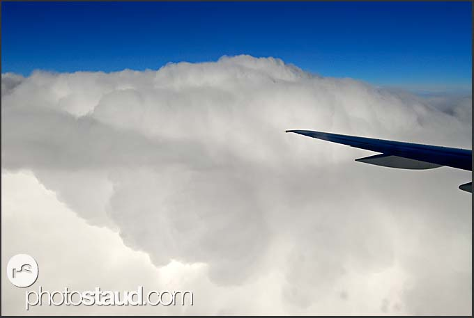In the clouds – aircraft flying above Iceland