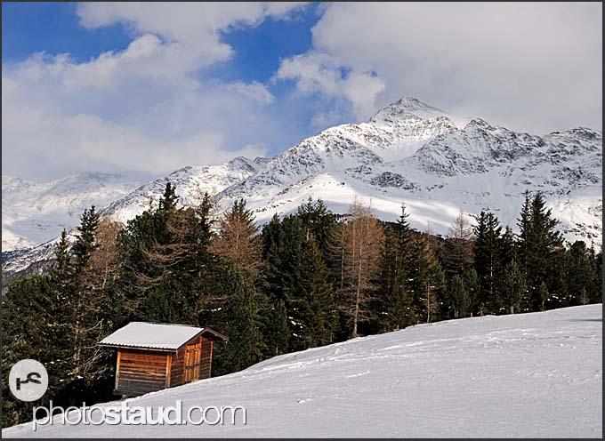 Mountains of Italian Alps near Bormio, Italy, Europe