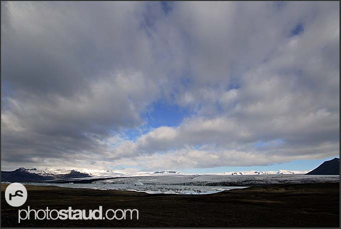 Jokulsarlon glacial lagoon and Vatnajokull glacier, landscape of Iceland