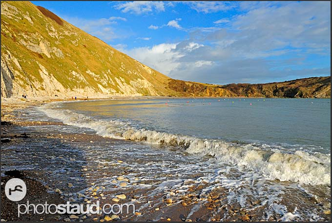 Lulworth Cove on Jurassic coast, Dorset, England, Europe