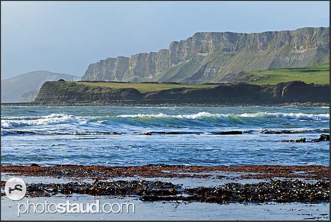 Rocky landscape of Jurassic Coast, Dorset, England, Europe