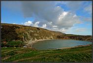 Seaside near Lulworth Cove, Jurassic Coast World Heritage site, Dorset, England, Europe