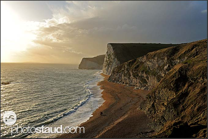 Evening on the Jurassic Coast, World Heritage site, Dorset, England, Europe