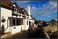 Houses in Lulworth, Jurassic Coast, Dorset, England, Europe