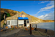Lulworth Beach Cafe at Lulworth Cave, Jurassic Coast, World Heritage site, Dorset, England, Europe