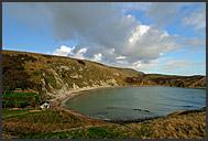 Lulworth Cave on the Jurassic Coast, World Heritage site, Dorset, England, Europe