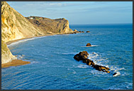 Man o' War bay near Durdle Door, Jurassic Coast World Heritage site, Dorset, England, Europe