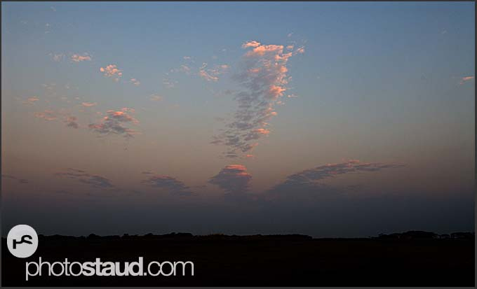Evening clouds in the landscape of Kafue National Park, Zambia