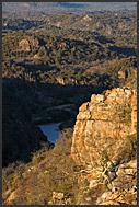 Lanner gorge, landscape of Kruger National Park, South Africa