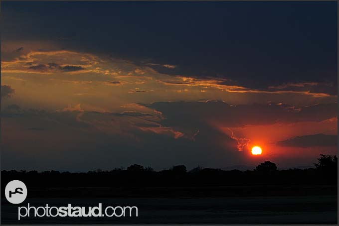 Sunset in South Luangwa National Park, Zambia