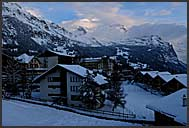 Winter resort in Wengen, Switzerland, Europe