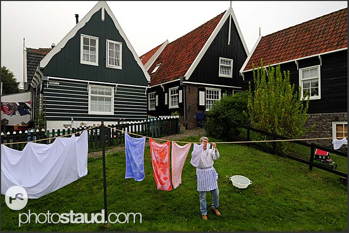 Wooden houses in Marken, The Netherlands, Europe