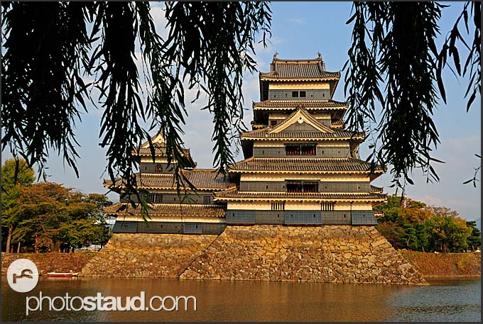 Wooden structure of Matsumoto castle, National Treasure, Matsumoto, Japan