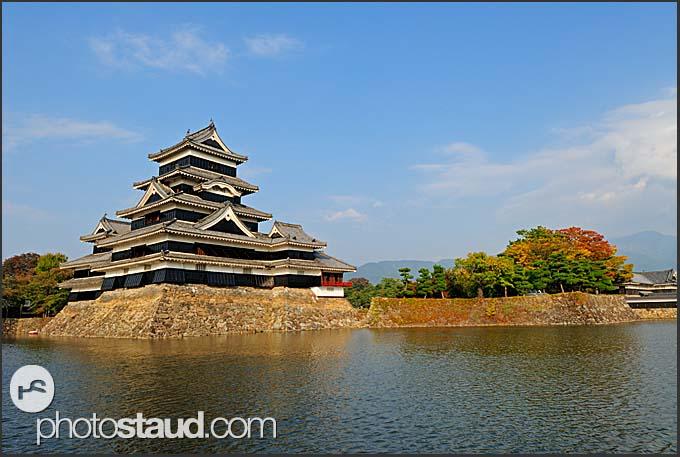 Matsumoto castle surrounded by pond, National Treasure, Matsumoto, Japan