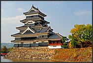 Ancient architecture of Matsumoto castle, National Treasure, Matsumoto, Japan