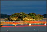 Fisherman and boats in Matsushima bay, Japan
