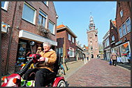 Typical Dutch architecture in the streets of Monnickendam, Holland, Europe