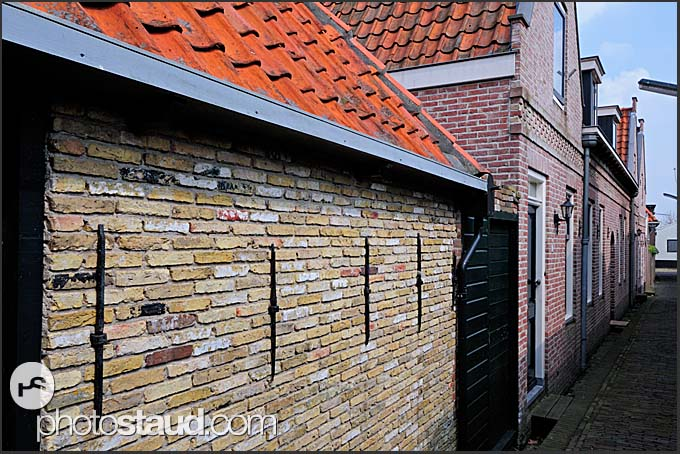 Typical Dutch architecture in Monnickendam, Holland, Europe
