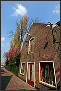 Typical Dutch houses in Monnickendam, Holland, Europe