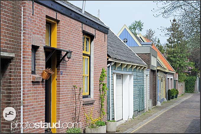 Little houses of Muiden, Holland, Europe