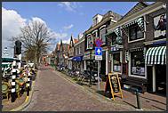 Ordinary street in Muiden, Holland, Europe