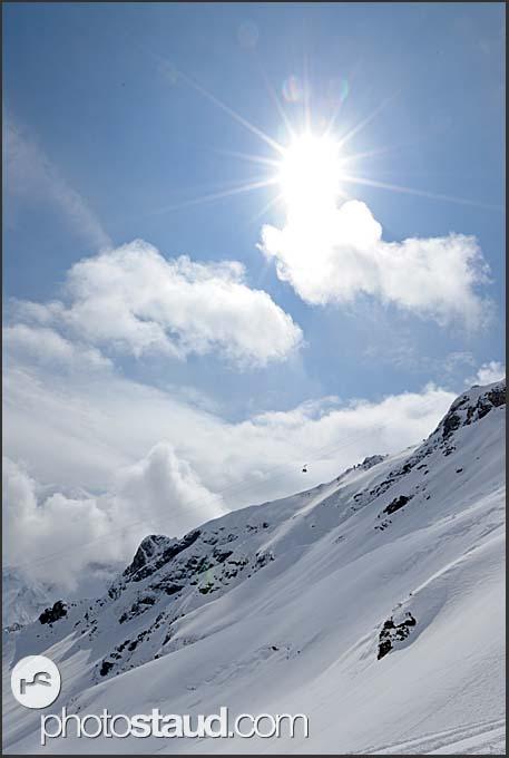 Winter landscape of the Swiss Alps, Murren Schilthorn, Switzerland, Europe