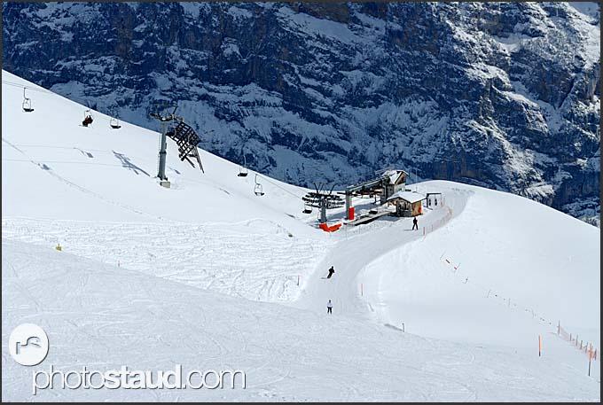 Ski resort of Murren Schilthorn, Switzerland, Europe