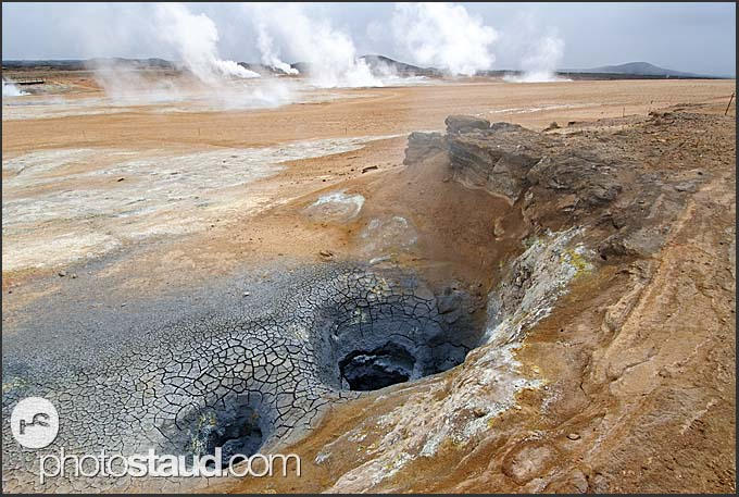 Volcanic landscape at Hverarönd - Namafjall Hverir geothermal area, Myvatn area, Iceland