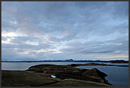 Evening landscape of lake Myvatn, Iceland