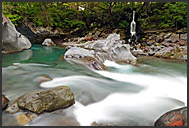 Kegon Falls in autumn, Nikko National Park, Japan