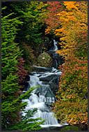 Ryuzu waterfalls in autumn, Nikko National Park, Japan