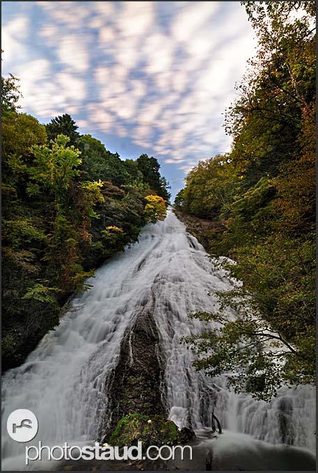 Autumnal landscape of Yudaki Falls, Nikko National Park, Japan