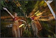 Thai lakhon dancers performing in a restaurant, Bangkok, Thailand