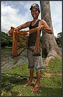 Cambodian fisherman