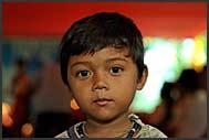Little children on Khmer wedding, Cambodia