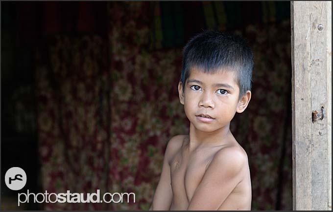 Portrait of Cambodian boy