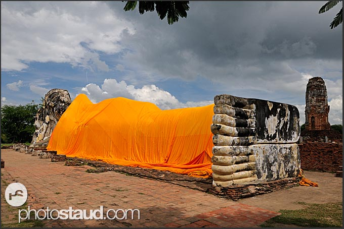 Lying Buddha at Wat Lokayasutharam, Ayutthaya, Thailand