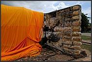 Buddhist monk in Ayutthaya, Thailand