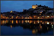 Mosteiro da Serra do Pilar illuminated by night, Porto, Portugal