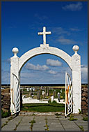 Graveyard and church, Reykjanes Peninsula, Iceland