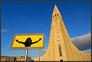 Solfar - The Sun Voyager at sunset, Viking ship sculpture by Jon Gunnar Arnason, Reykjavik, Iceland