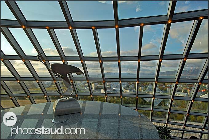 View of Reykjavik from Perlan restaurant, Iceland
