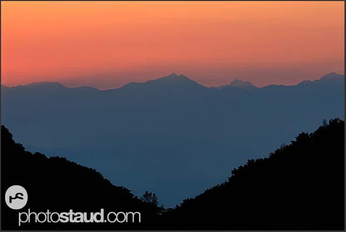 Sunset in Japan Alps, Shiga Kogen Heights, Joshin-etsu National Park, Japan